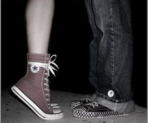 love, converse, and kiss image