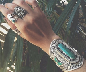 bracelet, vintage, and ring image