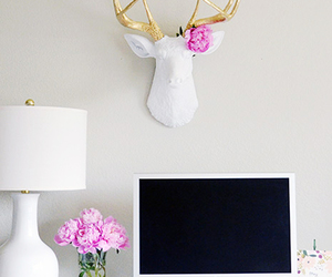 decor, white, and flowers image