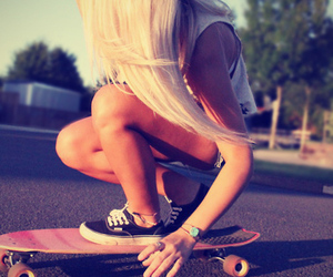 blond, nice, and vans image