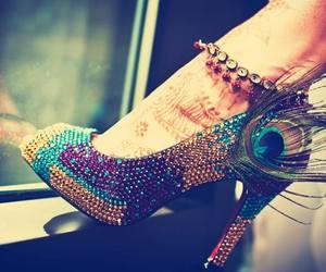 henna mehndi shoes image