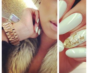 fake nails, fur coat, and jacobs image