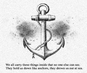 anchor, quote, and sea image
