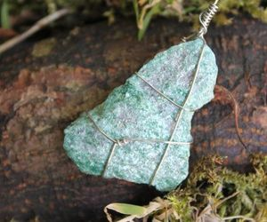 crystals, healing, and wirewrapped image