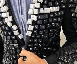 keyboard, suit, and computer image