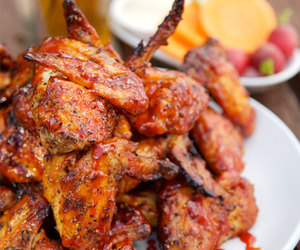 food, wings, and Chicken image