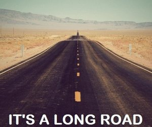 road, quotes, and long image