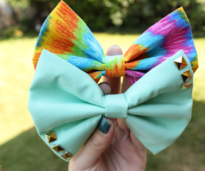 bow, studs, and tumblr image