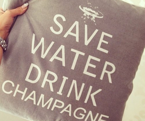 champagne, drink, and water image