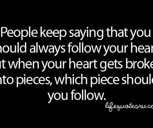 quote, heart, and piece image