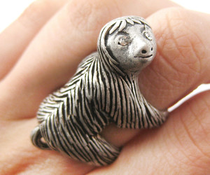 animals, jewelry, and sloth image