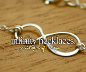 infinity, necklace, and just girly things image