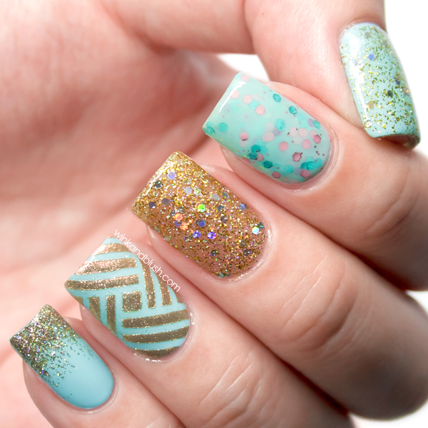 Glitter and intricate stripes nail art design tutorial wink and glitter and intricate stripes nail art design tutorial wink and blush prinsesfo Images