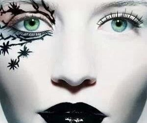 face, green, and Halloween image