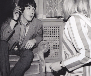 beatles, cigarette, and couple image