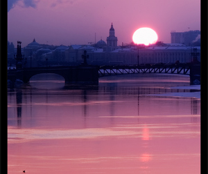 russia and sunset over st petersburg image