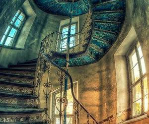 stairs, old, and architecture image