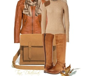 boots, camel, and leather image