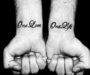 tattoo, life, and one love image