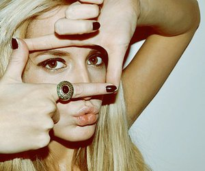girl, blonde, and ring image