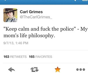 carl, funny, and the walking dead image
