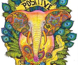 positive, elephant, and vibration image