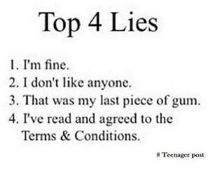 lies, true, and funny image