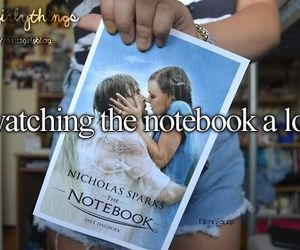 girl, movie, and notebook image