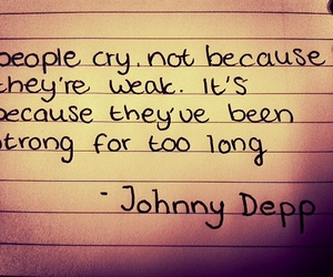 cry, johnny depp, and quote image