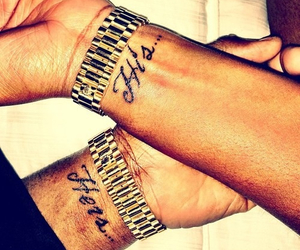 love, tattoo, and His image