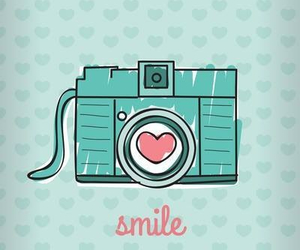 smile, camera, and heart image