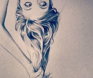 girl, drawing, and hair image