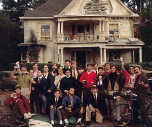 college, animal house, and frat image