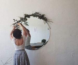 mirror and flowers image