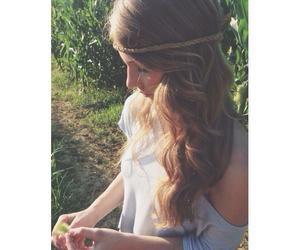 beautiful, girl, and acacia image