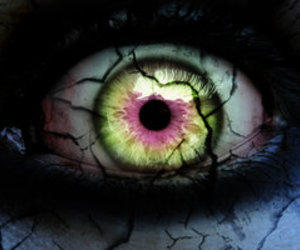 creepy, eyes, and eye image