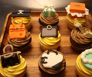 cupcake, food, and chanel image