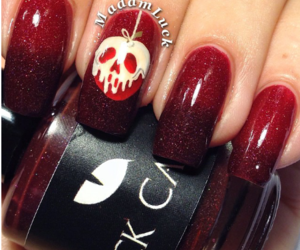 black, nails, and red image