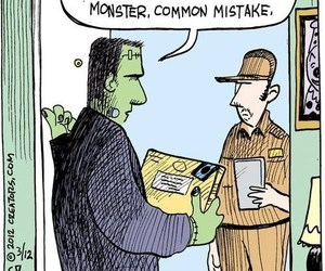 Frankenstein, comic, and mistake image