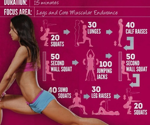 fitness, squats, and gym image