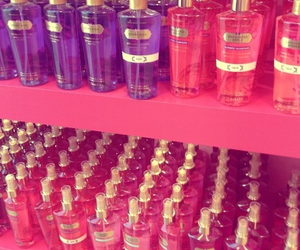 pink, Victoria's Secret, and body mist image