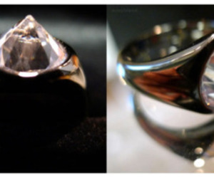jewelry, ring, and inverted diamond image