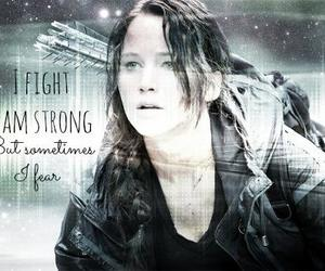 fight, katniss, and catching fire image