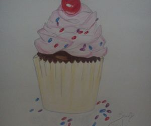 cake, dessin, and draw image