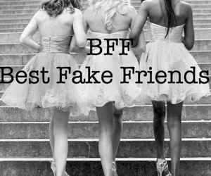 bitch, fake, and trust image