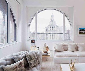 home, white, and window image