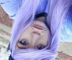 purple hair, site model, and christine amber image