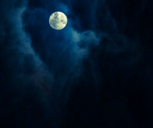 moon, clouds, and nature image