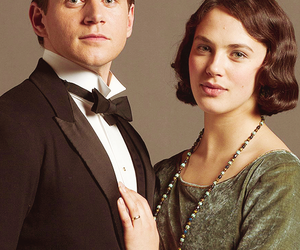 jessica brown findlay and allen leech image