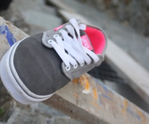 grey, pink, and shoe image